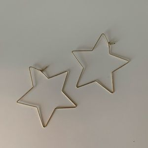 Urban outfitters large star hoops